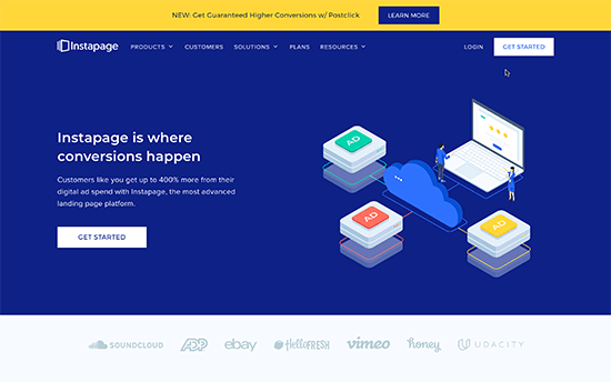 Instapage website