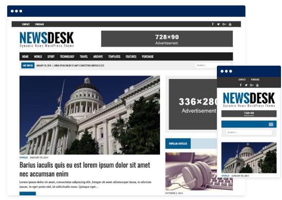 MH Newsdesk theme