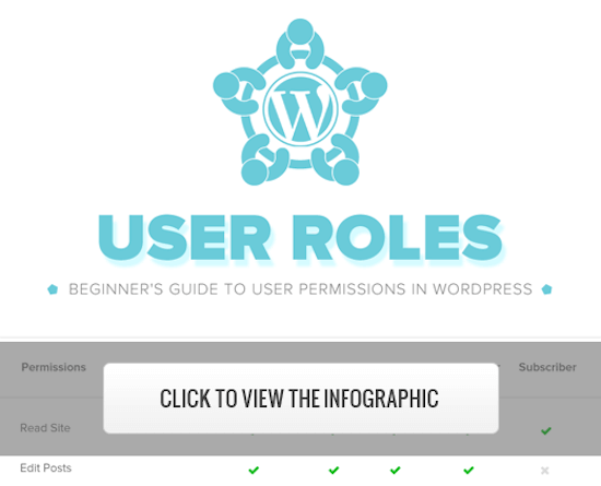 View the WordPress user roles infographic
