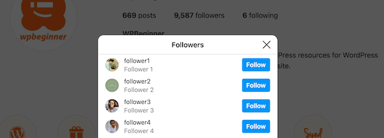 View Instagram followers
