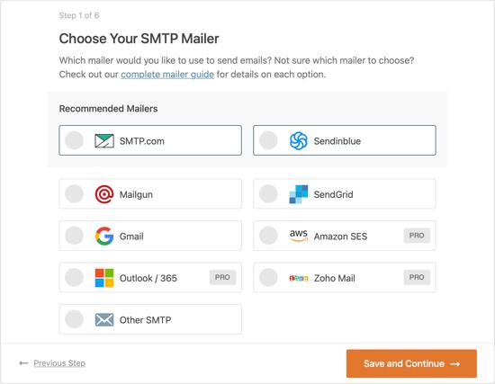 Choose Your SMTP Mailer Service