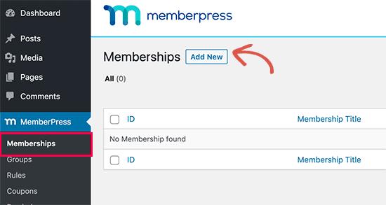 Add new MemberPress membership