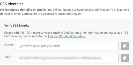 Verify Domain TXT Record