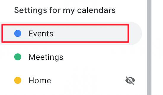 Click on Google Calendar