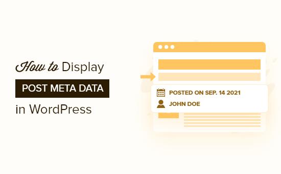 How to display post meta data in WordPress themes