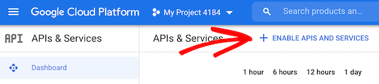 Enable APIs and services