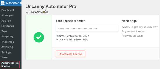 Uncanny Automator License Key