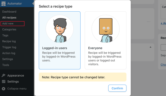 Select 'Logged-in Users'