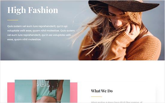Fashion website