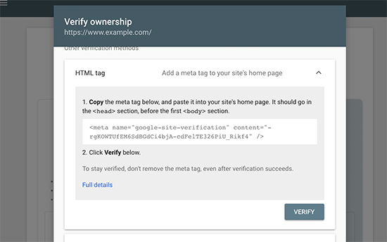 HTML tag method