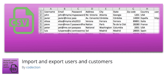 Import and Export Users and Customers