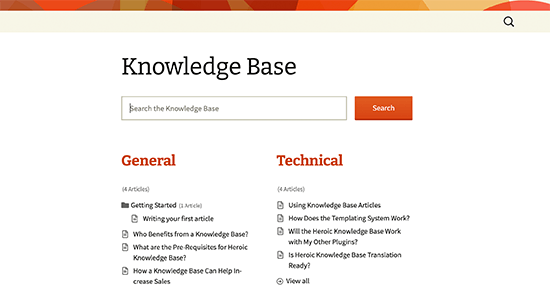 Knowledge base / wiki