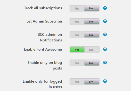 More comment subscription settings