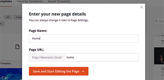 Enter a page title