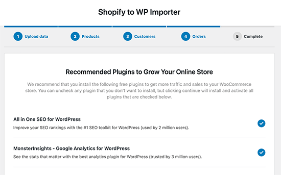 Recommended plugins