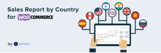 Sales report by country for WooCommerce