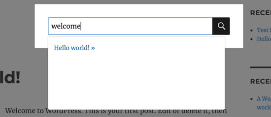 Live Search Preview