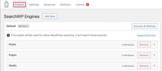 Impostazioni dei motori di ricerca WP