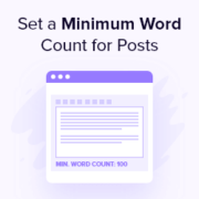 How to Set a Minimum Word Count for WordPress Posts
