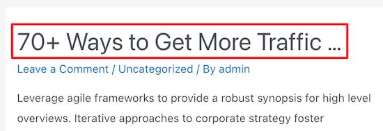 Truncate posts example