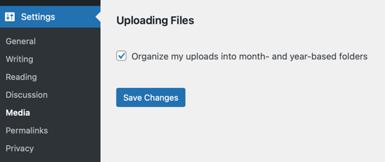 Choose Whether to Organize Media Folders by Month and Year