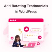 How to Add Rotating Testimonials in WordPress (3 Ways)