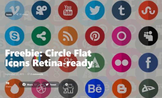 Circle flat icons retina ready