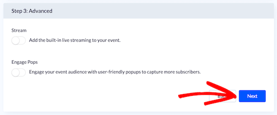 Advanced live blog settings