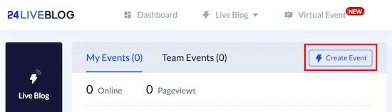 Create new 24liveblog event
