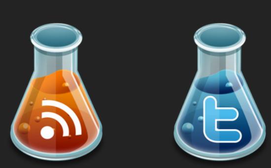 Experimental social icons