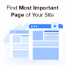How to Find the Most Important Page of your Site