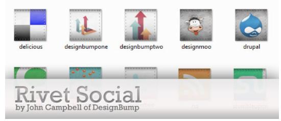 Rivet social icon pack