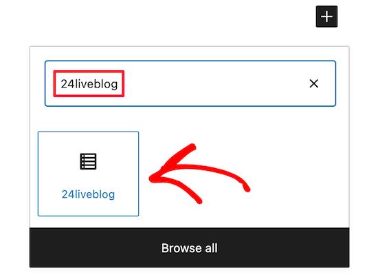 Select 24liveblog block