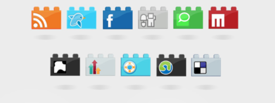 SocioLEGO social icon set